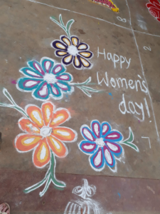 How I Spent International Women S Day With Women In India Trish Flood Rangoli is an artistic creation with rice flour that is made outside the front entrance of the house it is usually done by the women flok of the house early. how i spent international women s day